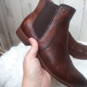 Isola Brown Leather Ankle Booties Sz 7.5